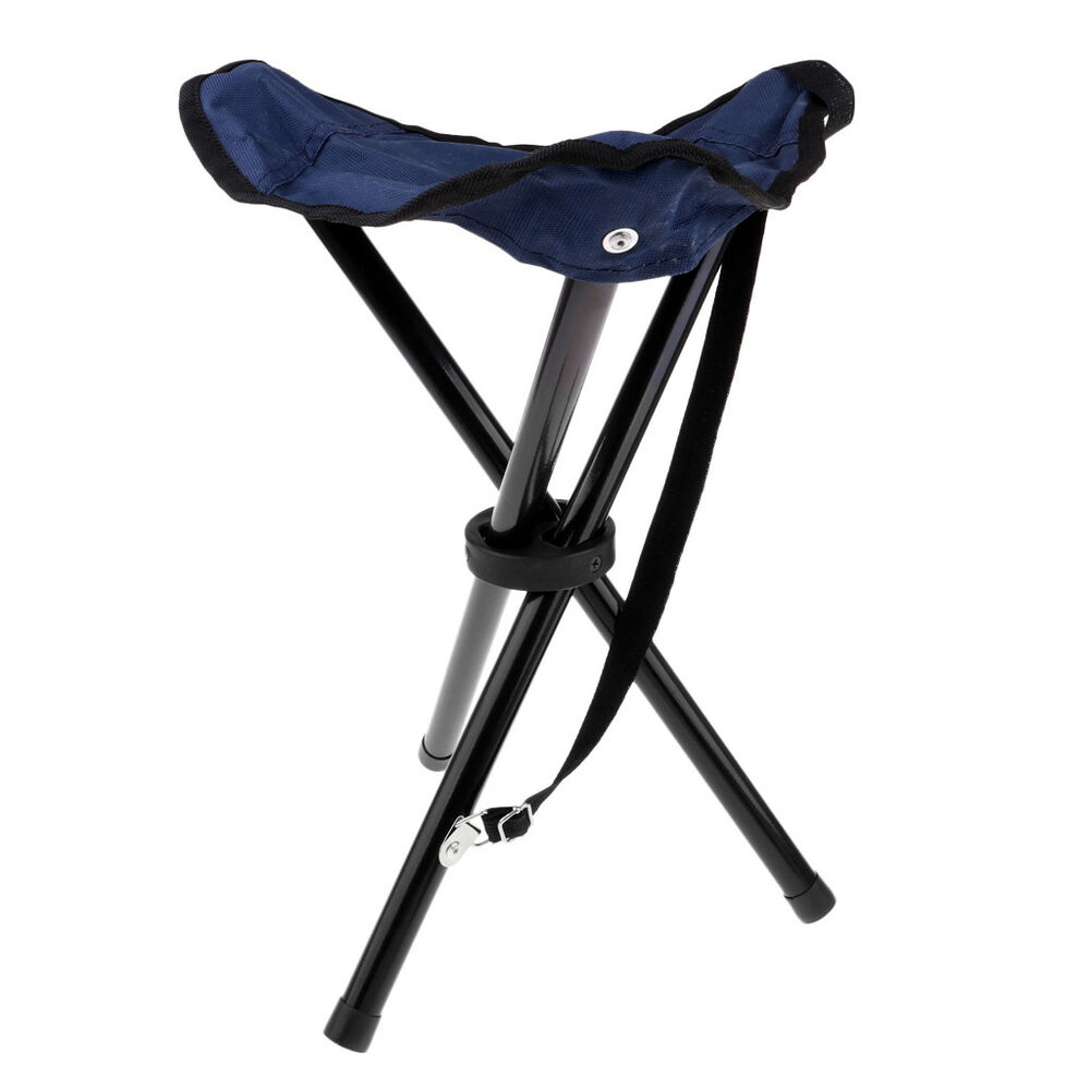 Collapsible Chair Folding Tripod Stool Festival Camping Fishing Chair Collapsible Seat Carry Ebay