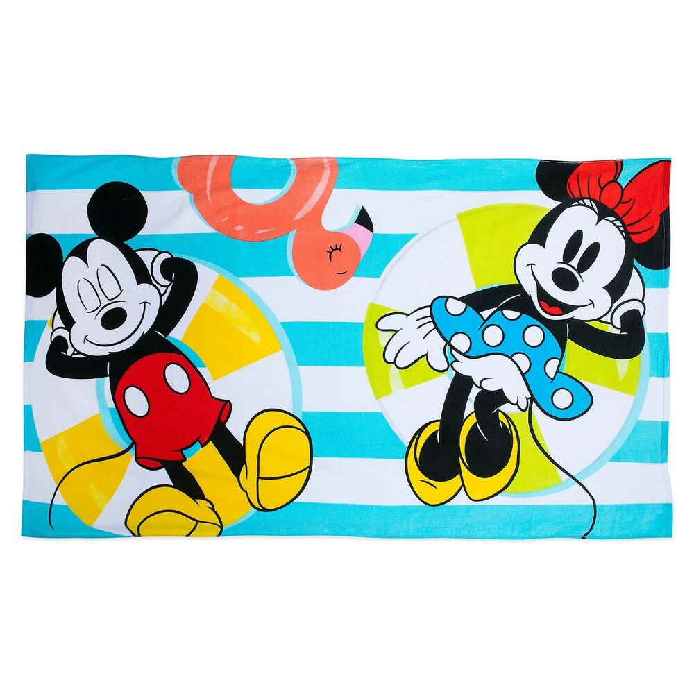 Disney Mickey Disney Mickey Mouse And Minnie Summer Fun Beach Towel New Ebay