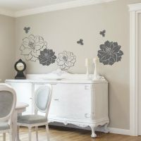 Large Flower Butterfly Wall Stickers / Wall Decals | eBay