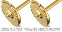 18ct YELLOW GOLD SPRING CLIP EARING EARRING BACKS SCROLLS ...