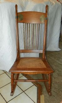 Quartersawn Oak Caned Sewing Rocker Rocking Chair (R66) | eBay