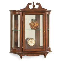 WESTBROOK WALL MOUNTED CURIO CABINET - PLANTATION CHERRY ...