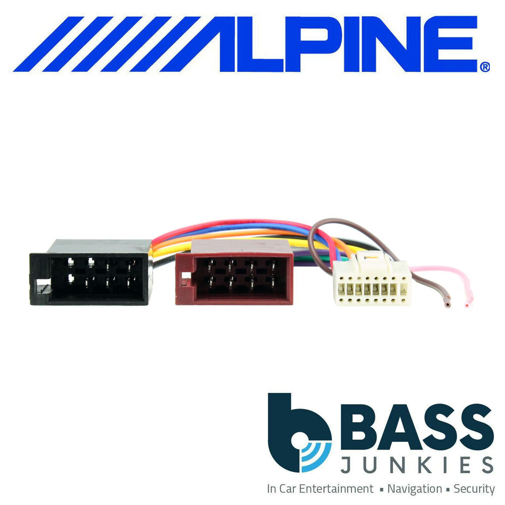 Alpine 16 Auto Electrical Wiring Diagram Wire Harness 4 Pin Car Stereo Iso Replacement Radio Loom