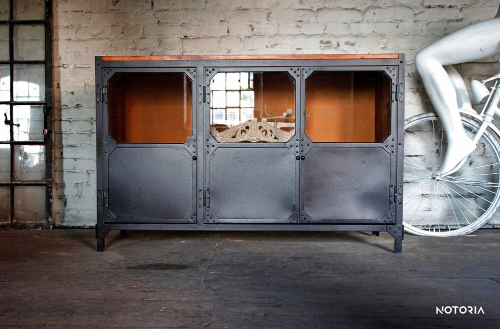 Sideboard Metall Ebay Kommode Büffet Brooklyn Industrial Design Metall Holz