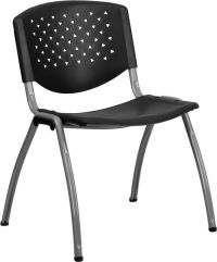 Heavy Duty Black Polypropylene Stack Office Chair ...