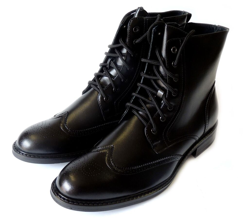 New Delli Aldo Mens High Ankle Boots Laceup Oxfords Wing