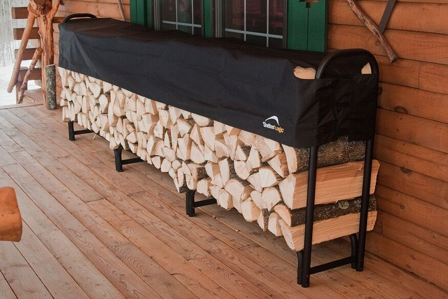 Shelterlogic 1239 Covered Firewood Rack 90403 Steel Outdoor