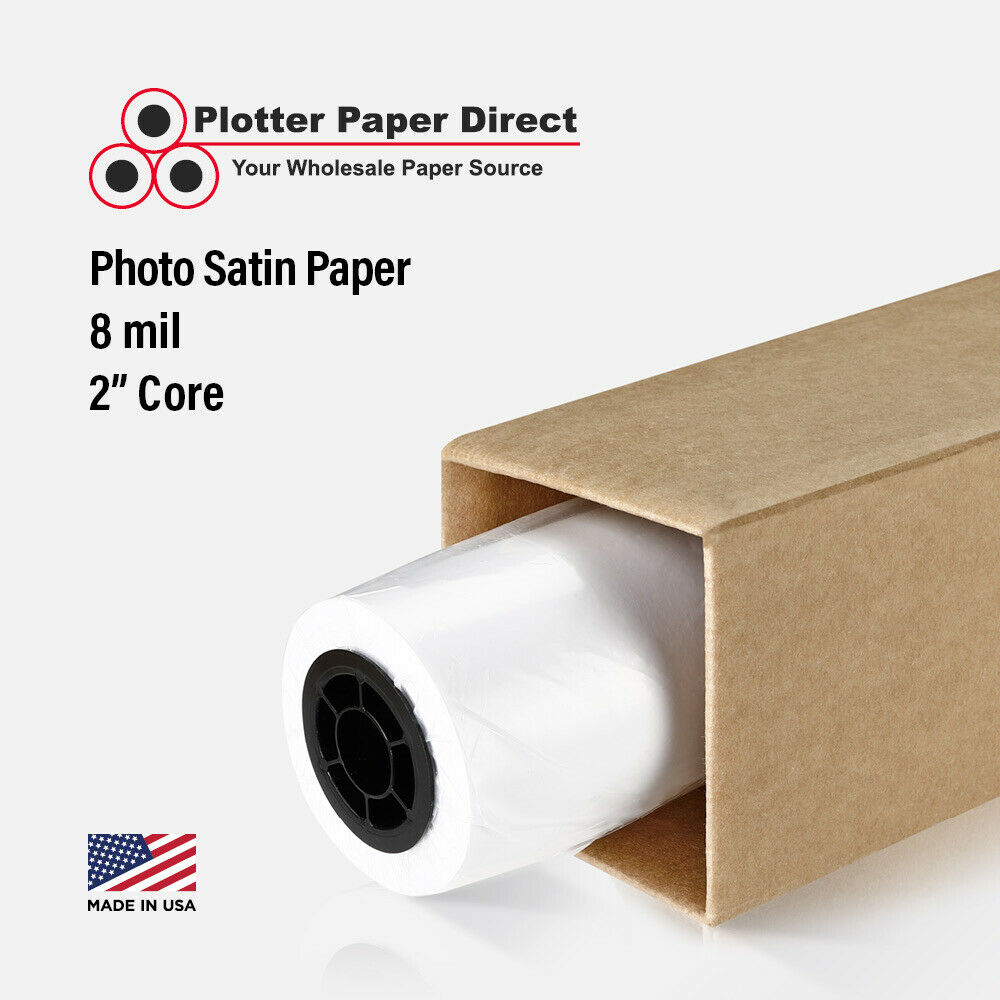 24quot X 10039 Satin Photo Inkjet Paper Roll For Wide Format