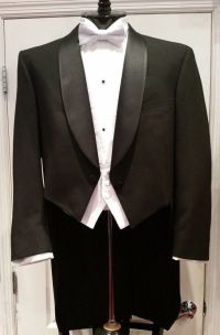 "Men's Ballroom Wool Black ""White Tie"" Full Dress Tailcoat"