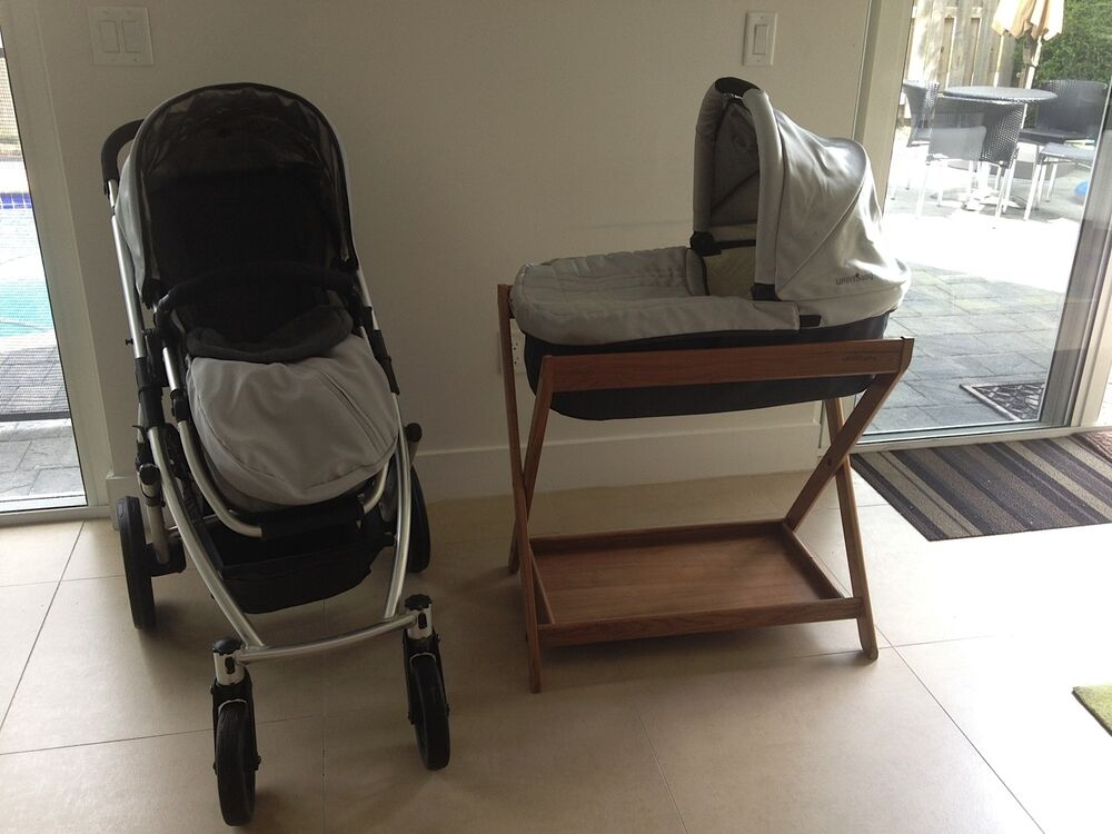 Stroller With The Bassinet Silver Black Uppababy Vista Stroller Bassinet Stand