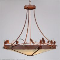 Large Rustic Ceiling Chandelier Pine Cone Avalanche Ranch ...