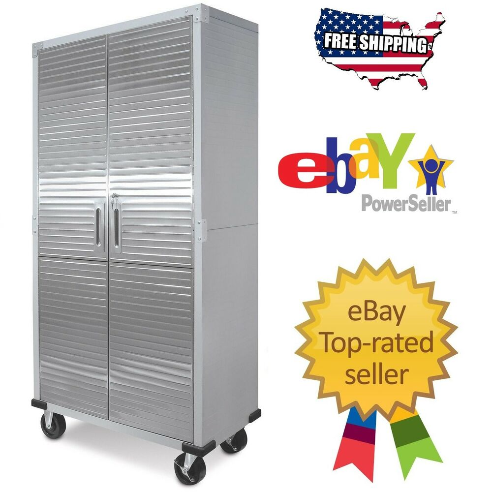 Rolling Filing Cabinets Garage Metal Rolling Tool File Storage Cabinet Shelving Stainless Steel Doors 176411623630 Ebay