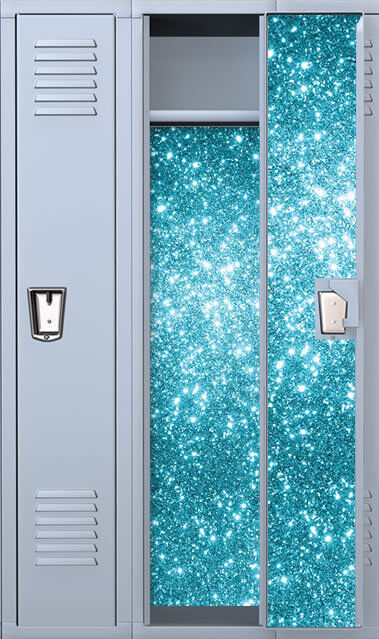 FairyDust:Sapphire Full Length Vinyl Magnetic School Locker Wallpaper Set-Custom | eBay