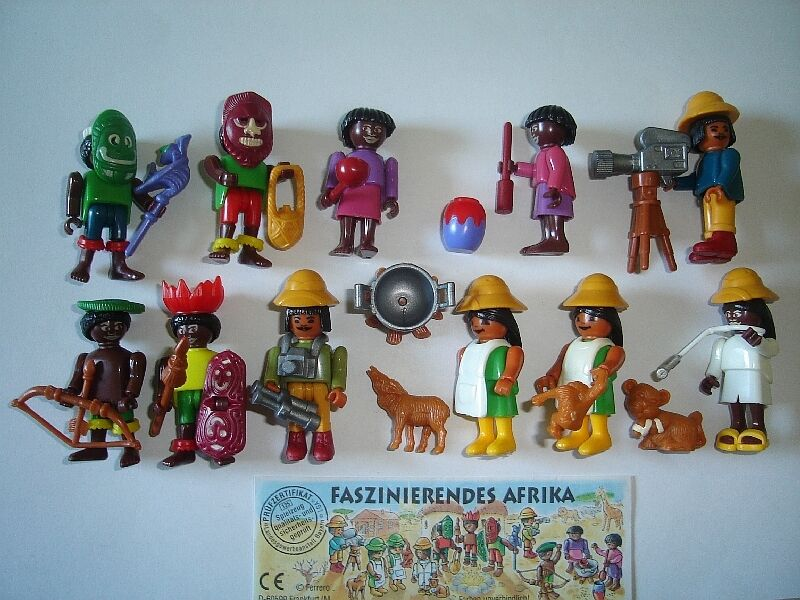 Kinder Egg Natoons Kinder Surprise Set African Culture Safari People 1995