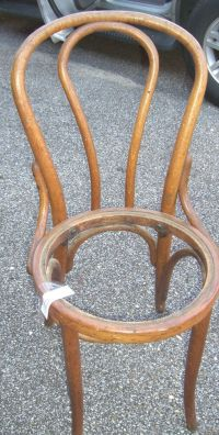 Antique BENTWOOD CHAIR OAK Thonet style Ice cream parlor ...
