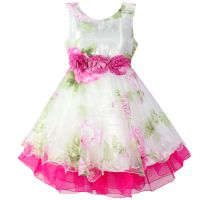 Girl Dress Flower Tulle Party Wedding Pageant Princess