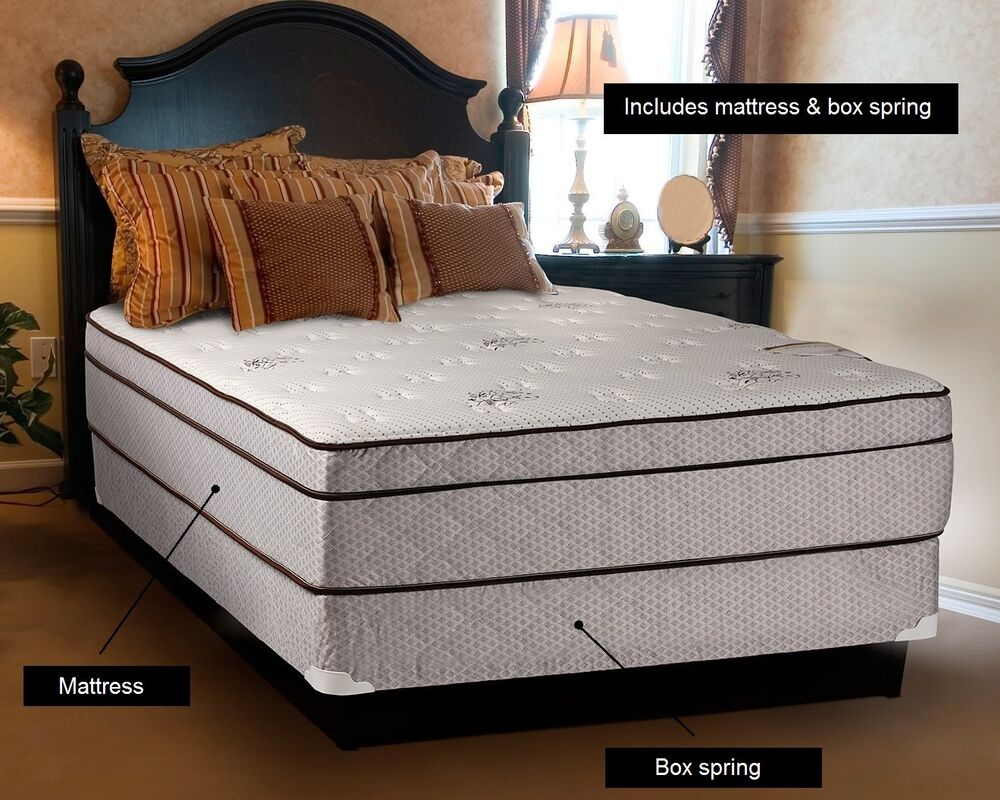 Fifth Avenue Extra Plush Eurotop Full Size Mattress And - Box Spring Bed