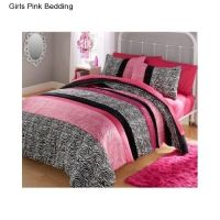 New Girl's Pink Comforter Set Twin Size Bedding Reversible ...