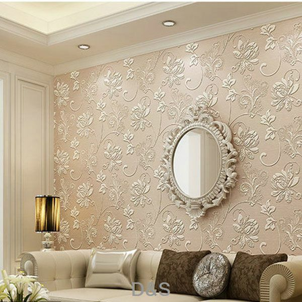 Vliestapeten Schlafzimmer Pink 3d Non-woven Wallpaper Roll For Living Room Bedroom
