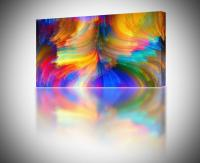 4 Sizes - Abstract Brush Strokes Colorful CANVAS PRINT ...