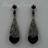 New Alloy Black Crystal Rhinestone Chandelier Drop Dangle ...