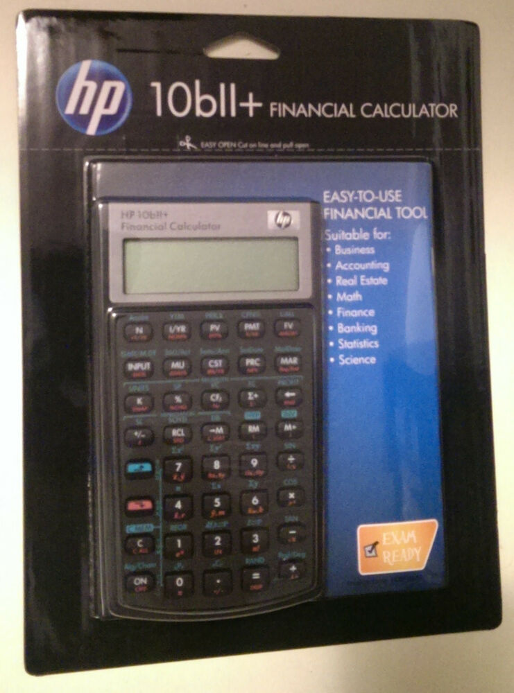Hewlett Packard HP-10BII Plus Financial Calculator HP 10BII+