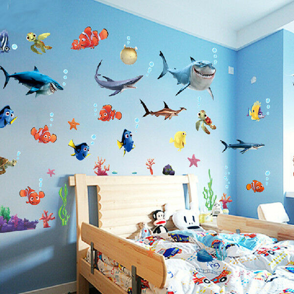 Wandtattoo Unterwasserwelt Diy Ocean Sea Fish Vinyl Art Removable Wall Sticker Home