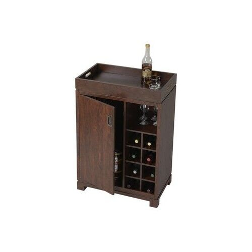 Liquor Cabinet Mini Bar Wine Rack Storage Cart Pub Small