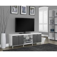 TV Entertainment Center Modern White Unit Stand Furniture ...