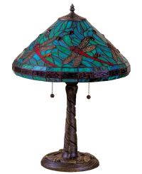 "Tiffany Style Stained Glass Turquoise Table Lamp 16"" Shade ..."