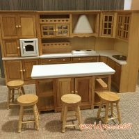 Dollhouse Miniature Burlywood Integrated Kitchen Furniture ...