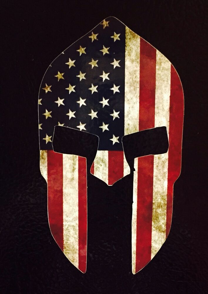 Ebay 3d Wallpaper Photo 6 Quot Spartan Molon Labe American Flag Shape Die Cut Decal