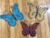 Nature Inspired Metal Butterfly Wall Art Trio Indoor ...