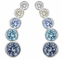 Swarovski Harley Pierced Earrings Earlobe, Blue Crystal ...