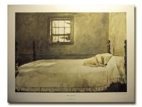 Dog On Bed Master Bedroom By Andrew Wyeth sleeping dog on ...