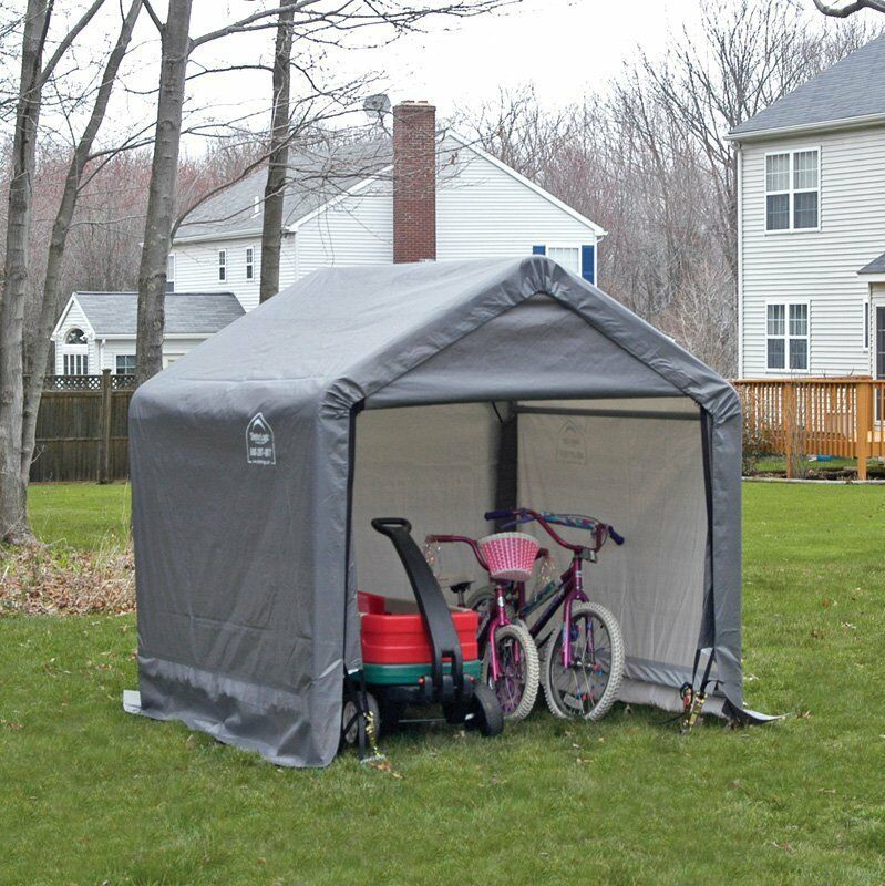 Canopy Storage Shed Outdoor Portable Garden Building Steel