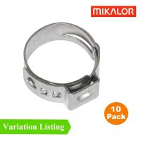 10 x Single Ear Plus Stainless Steel Hydraulic Hose Clamps ...
