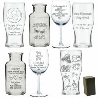 Personalised Glass Gift Birthday Engraved 30th 70th Best ...