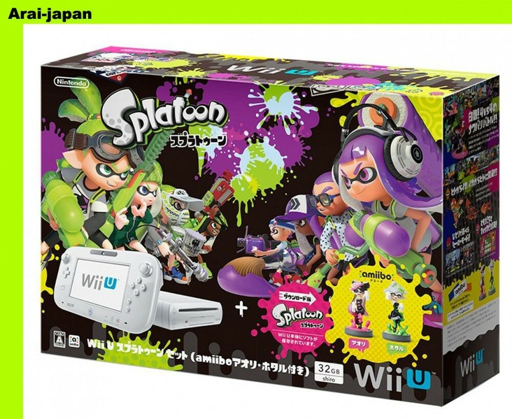 Splatoon Wallpaper Iphone New Wii U Wiiu Console Splatoon Amiibo Set Squid Sisters