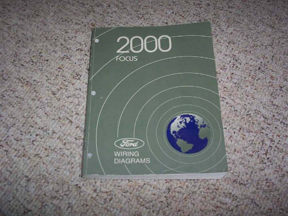 2000 Ford Focus Electrical Wiring Diagram Manual SE ZX3 XL ZTS 20L