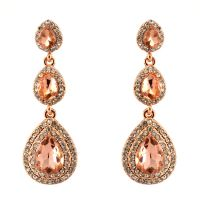297-ROSE GOLD Party & Wedding Jewelry Drop Dangle ...
