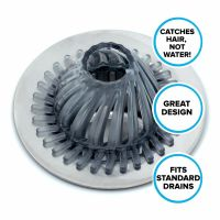 Hydro Flow Hair Catcher for Tub & Shower Drains: SlipX ...