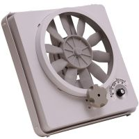 RV Ceiling Fan 12V Volt Roof Vent Multi Speed Vortex II ...