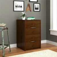 Alder Wood 2 Drawer File Cabinet Filing Home Office ...