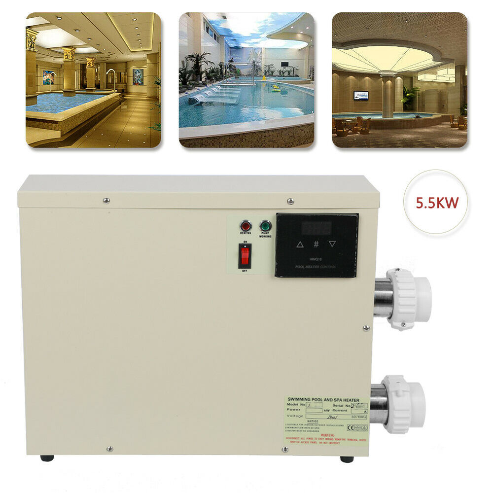 Jacuzzi Pool Heater Parts 5 5 11 15kw 220v Swimming Pool Spa Hot Tub Electric Water Heater Thermostat Ebay