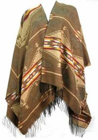 TAOS SOUTHWEST SHAWL FRINGE NATIVE AMERICAN BLANKET