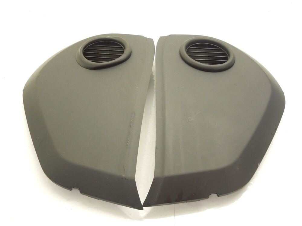 VW Touareg 7L Black Pair of Dashboard Ends Fuse Box Covers