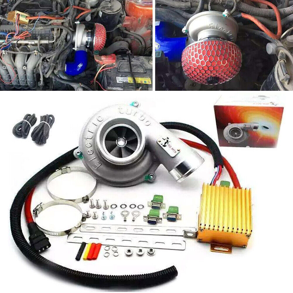 Industrie Materiel Electric Turbo Supercharger Thrust Motorcycle Turbocharge Air Filter For All Car Ebay
