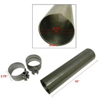 Stainless Steel Flexible Exhaust Flex Pipe w/ Band Clamps ...