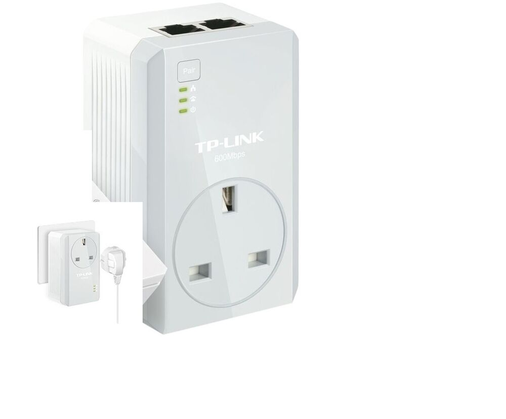 Powerline Adapter Twin Pack Tp Link Tl Pa4020p Av600 Two Port Powerline Adapter Ac